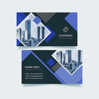 Визитная карточка с абстрактными формами