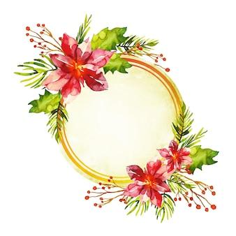 Красочные зимние цветы фон с пустым значком