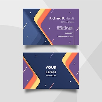 Абстрактный шаблон визитной карточки