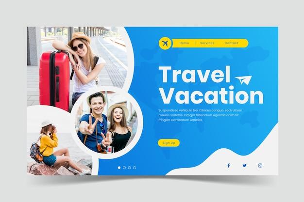Целевая страница путешествия с картинкой