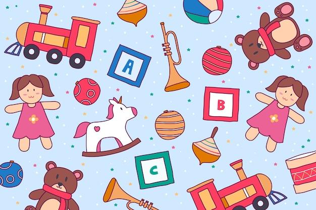 Рисованной елочные игрушки фон