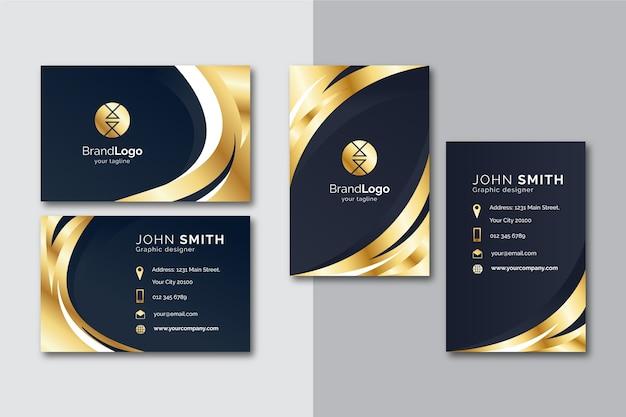 Золотой шаблон визитной карточки