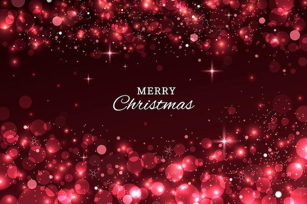 クリスマスの輝く背景の概念