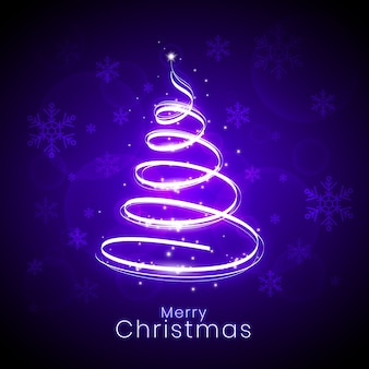 光の道のクリスマスツリーの概念