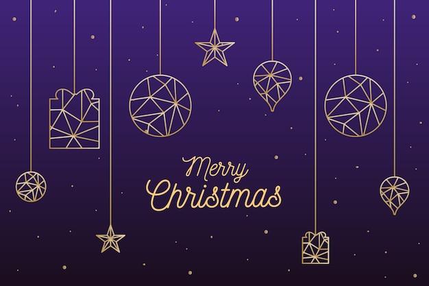 多角形スタイルのクリスマス背景コンセプト