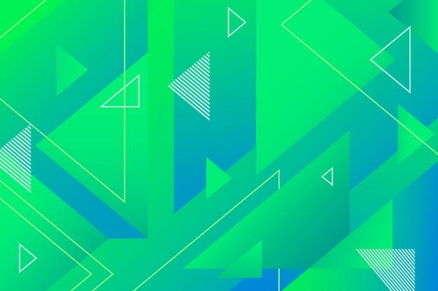 Зеленый геометрический абстрактный фон