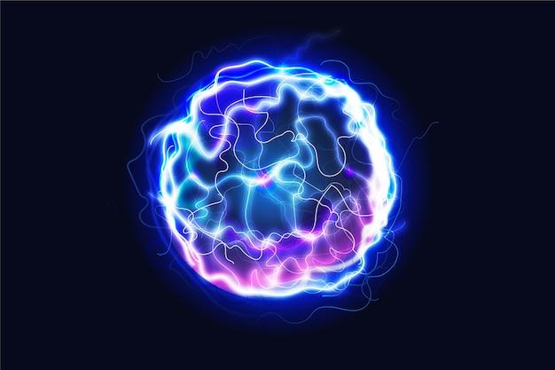 Световой эффект электрического шара