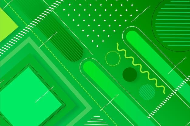 緑の抽象的な幾何学的なスクリーンセーバー