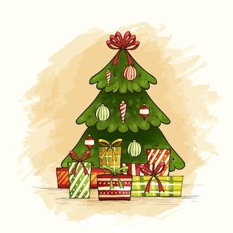 Рождественская елка с классическим дизайном
