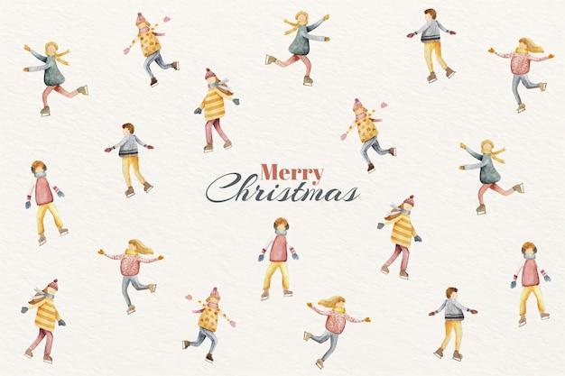 水彩クリスマス背景コンセプト