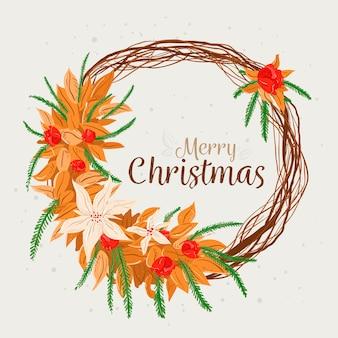 手描きクリスマスリースコンセプト