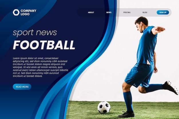 Спортивный шаблон целевой страницы с фотографией