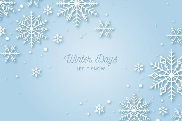 Фон зима в плоском дизайне