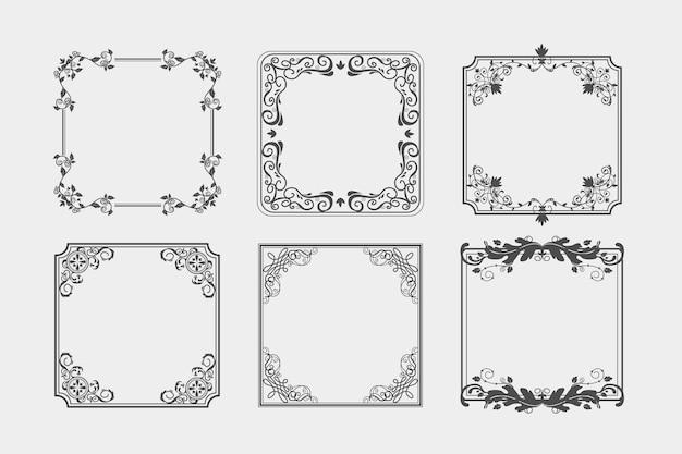 Коллекция старинных декоративных рамок