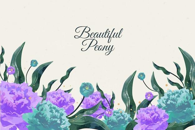 Красивая ручная роспись цветочный фон