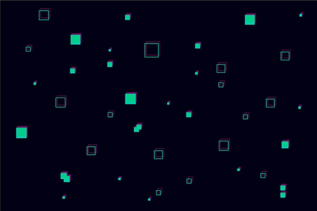 ピクセル雨の抽象的な背景