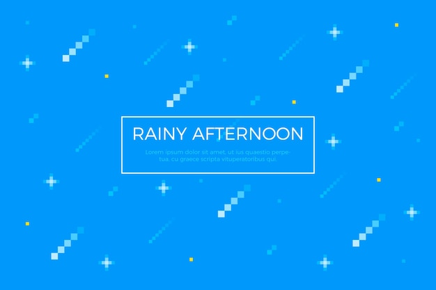 Фон пиксель дождь аннотация