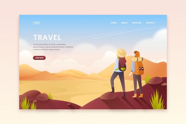 Красивая туристическая посадочная страница