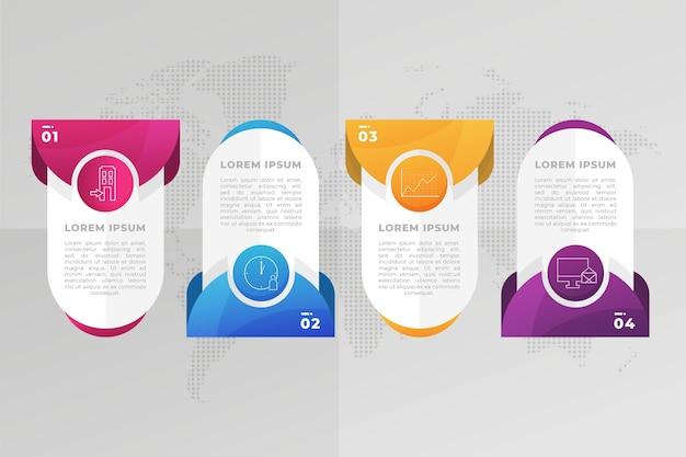 Хронология градиента профессиональной инфографики