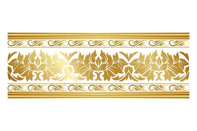 Элегантный золотой орнаментальный бордюр