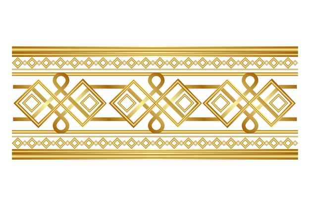 Роскошный золотой орнаментальный бордюр