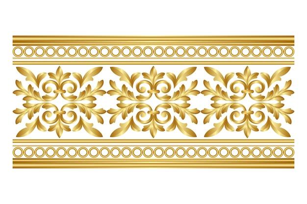 Декоративный бордюр золотой дизайн