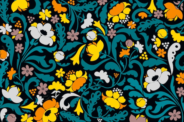 抽象的な装飾用の花の壁紙