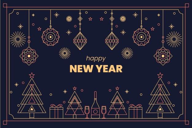 装飾と新年の背景