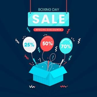 Плоский дизайн концепции продажи день бокса