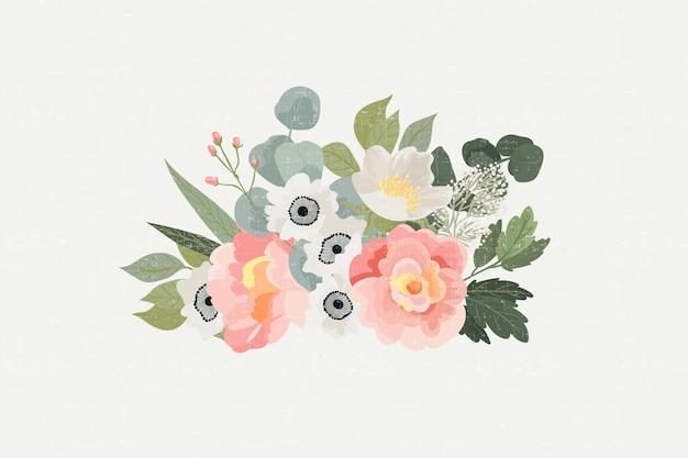 Красочный винтажный цветочный букет
