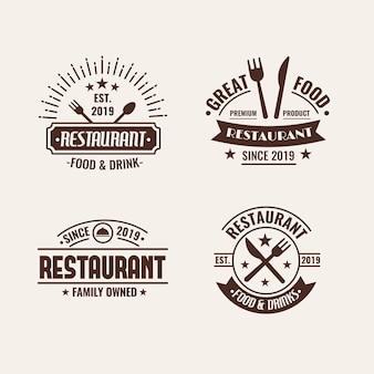 Ресторан ретро с логотипом
