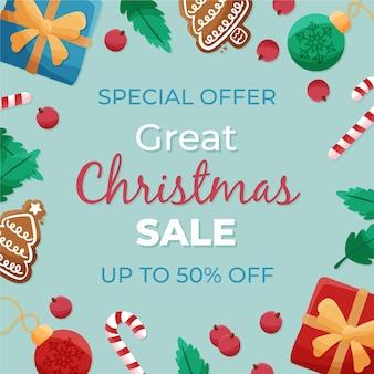 Ручной обращается рождественские продажи баннер