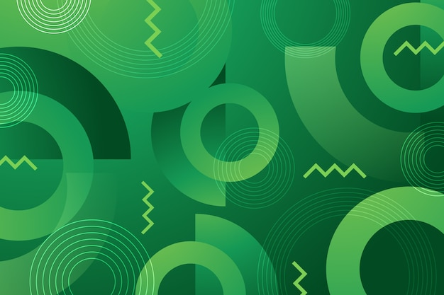Зеленые абстрактные геометрические обои