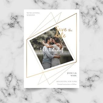 画像の結婚式の招待状のテンプレート