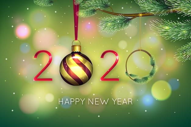 Новый год реалистичный фон