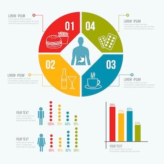 医療健康テンプレートインフォグラフィック