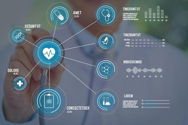 写真と医療のインフォグラフィック