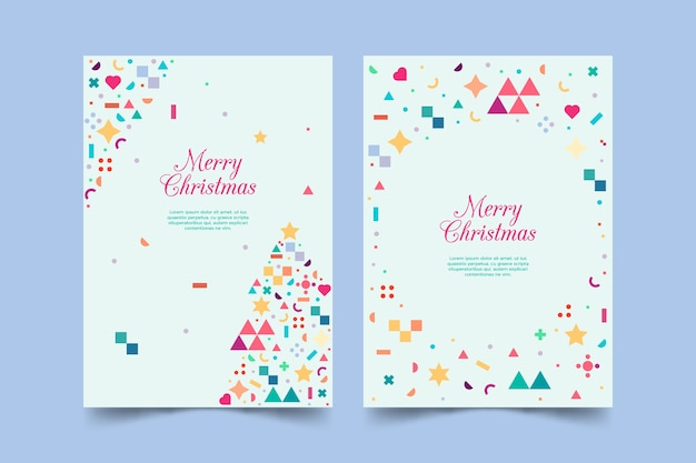 Рождественский шаблон с красочными геометрическими фигурами
