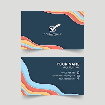 Корпоративный шаблон визитной карточки