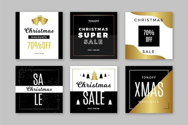 Рождественская распродажа инстаграм пост коллекция