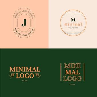 Красочные минимальные логотипы в стиле ретро
