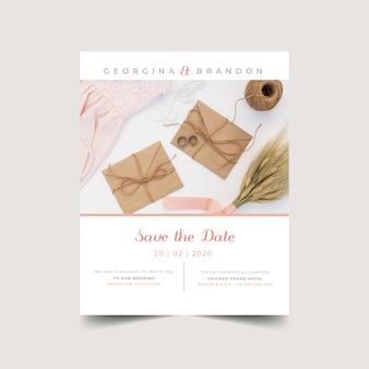 写真スタイルの結婚式の招待状