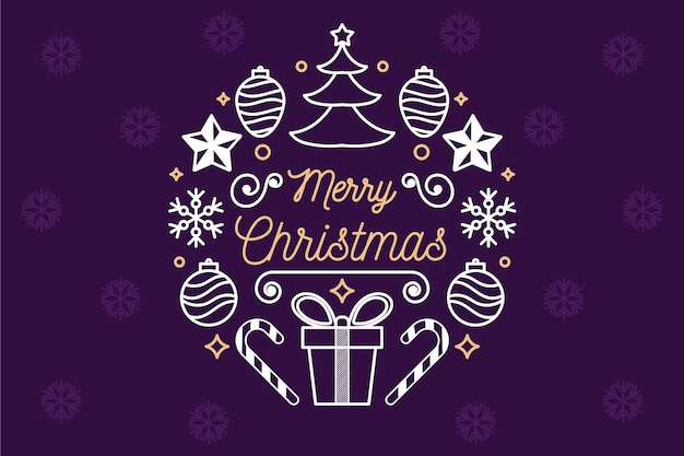 Рождественская концепция фон в стиле структуры