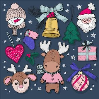 手描きクリスマスグッズコレクション