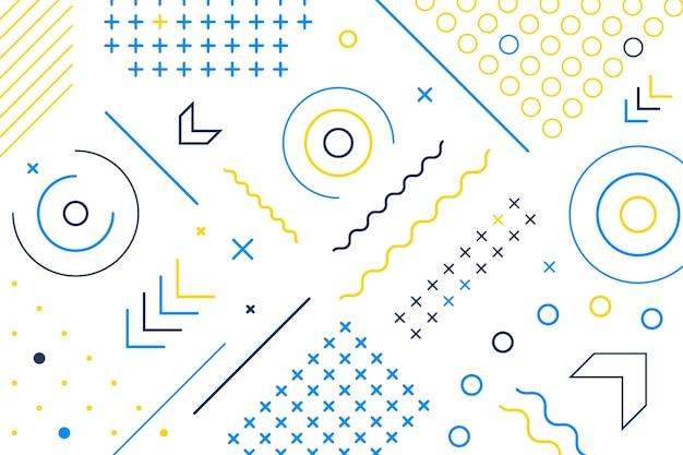 フラットなデザインの幾何学的図形の壁紙
