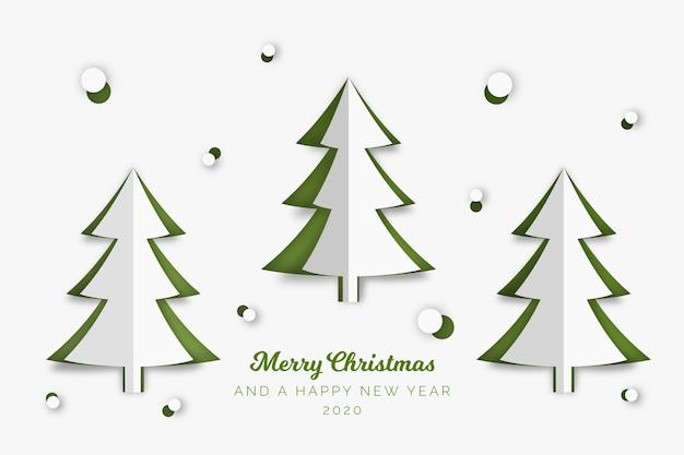 紙のスタイルでクリスマスツリーの概念