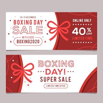 Плоские баннеры день продажи бокса