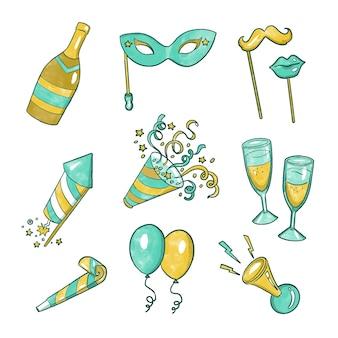 Акварельная новогодняя вечеринка