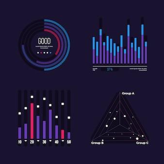 Коллекция элементов инфографики приборной панели