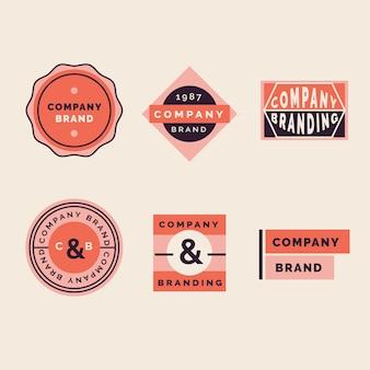 ビンテージスタイルで設定されたカラフルな最小限のロゴ